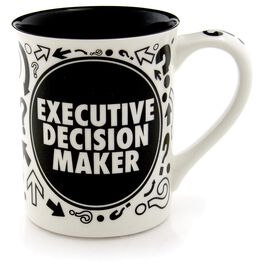 "Our Name is Mud ""Executive Decision Maker"" Spinner Mug, 16 oz., , large"