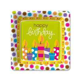 Birthday Surprise Dessert Plates, Pack of 6, , large