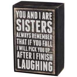 Primitives by Kathy Sisters Box Sign, , large