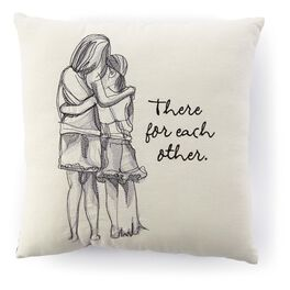There For Each Other Mother and Daughter Embroidered 14x14 Pillow, , large