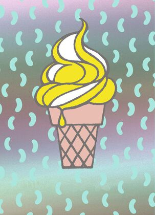 Ice Cream Cone Just Because Card