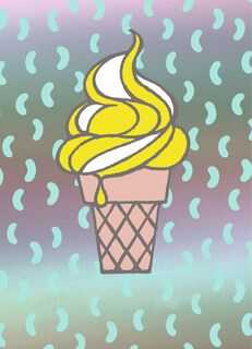 Ice Cream Cone Just Because Card,