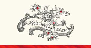 Antique Flowers Valentine's Day Card