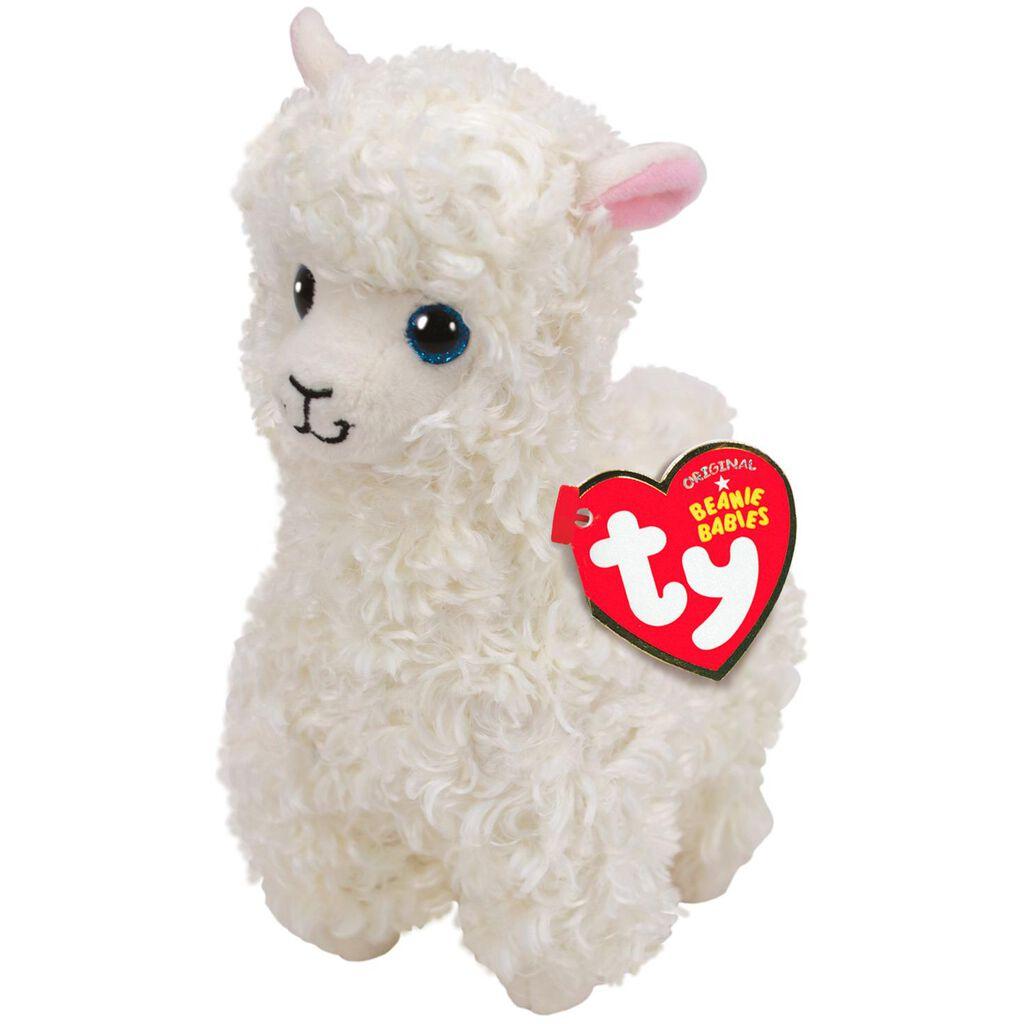 41985100616 Ty Beanie Babies Lily Llama Stuffed Animal