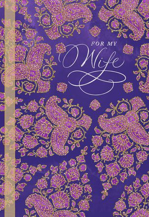 Purple and Gold Patterned Mother's Day Card
