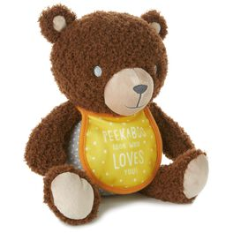 Peekaboo Teddy Bear Stuffed Animal With Photo Holder, , large