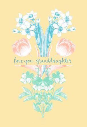 Granddaughter Spring Blooms Easter Card