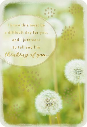 Peaceful Memories Today Thinking of You Card