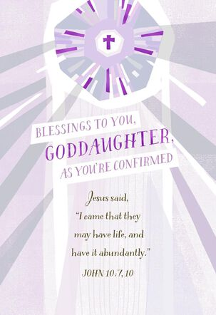 Blessings for You Confirmation Card for Goddaughter