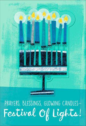 Festival of Lights Menorah Hanukkah Card