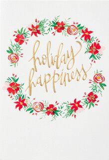 Holiday Happiness Christmas Card,