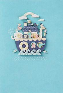 Noah's Ark Animals New Baby Card,