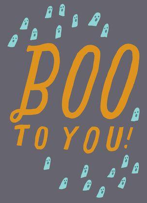 Boo to You Halloween Card