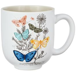 Butterflies Ceramic Mug, , large