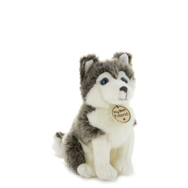 Gray and White Sled Dog Small Stuffed Animal, , large