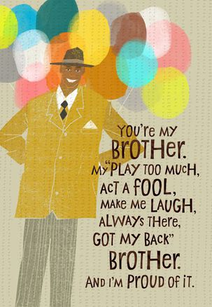 Brother Love Birthday Card