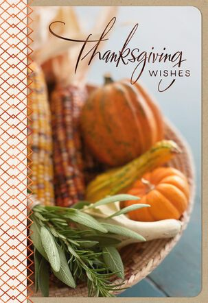 Simple and Sweet Blessings Harvest Thanksgiving Card