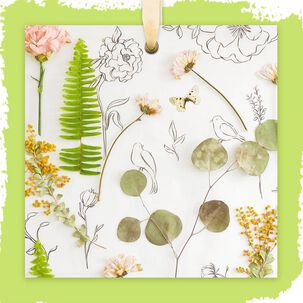 Botanical Collage Blank Card