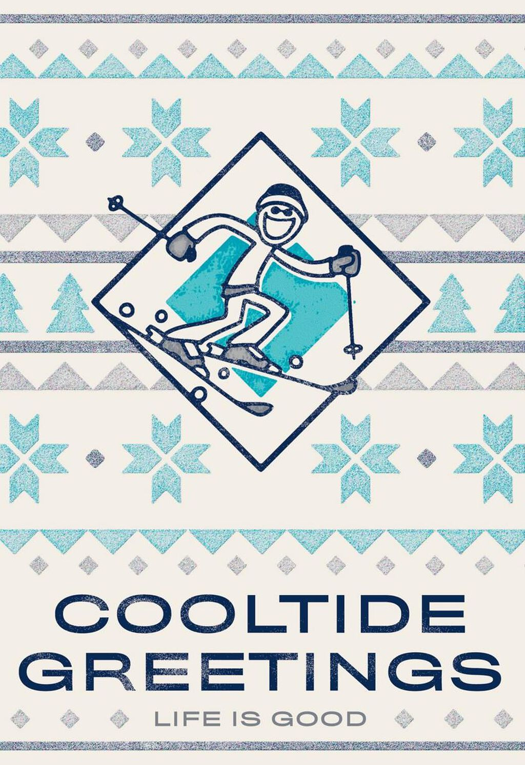 Life Is Good Cooltide Greetings Christmas Card Greeting Cards