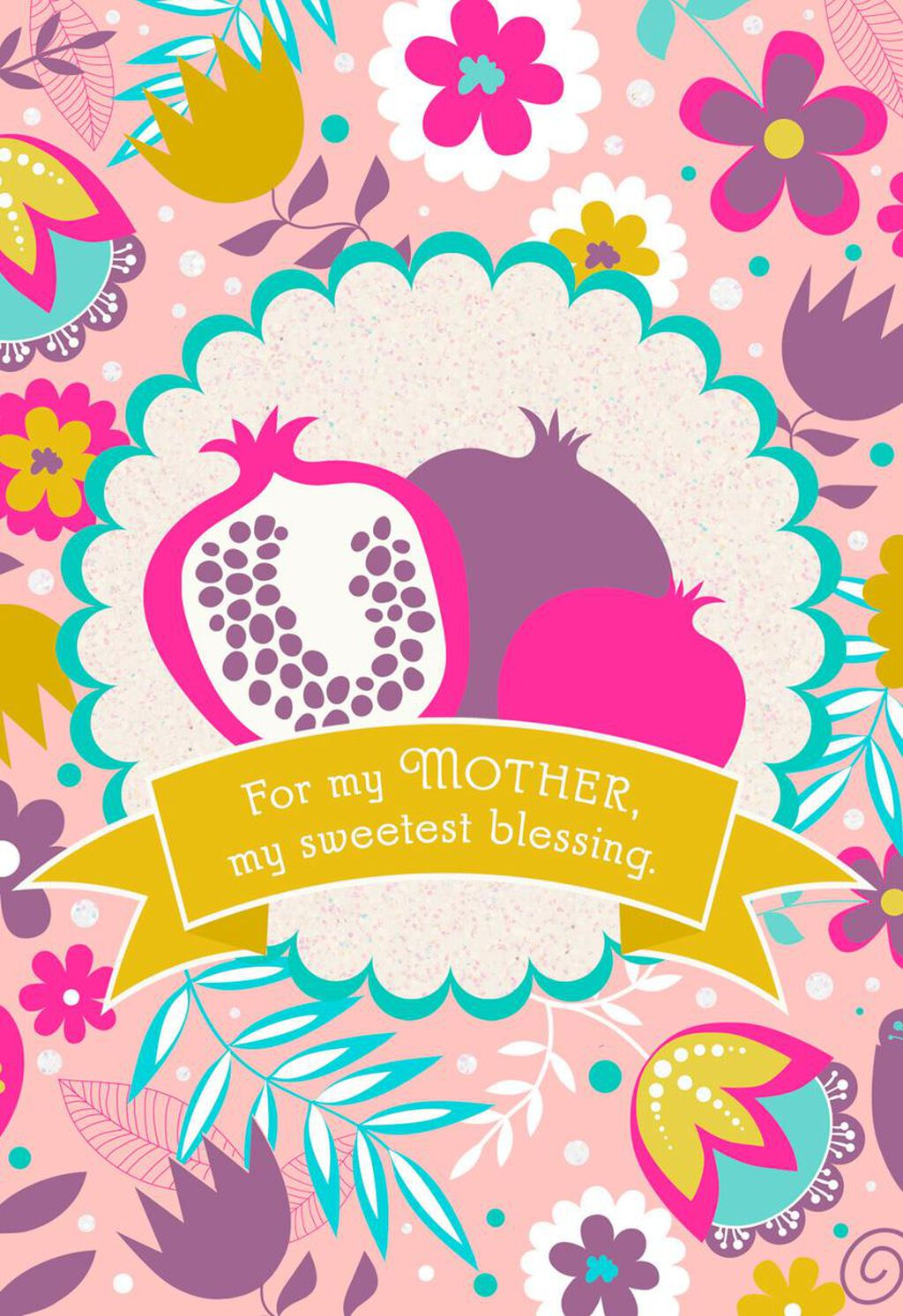 My Sweetest Blessing Rosh Hashanah Card For Mom Greeting Cards