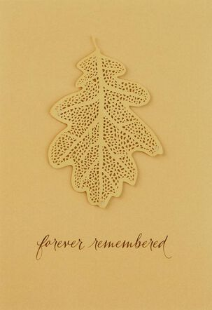 Forever Remembered Gold Leaf Sympathy Card