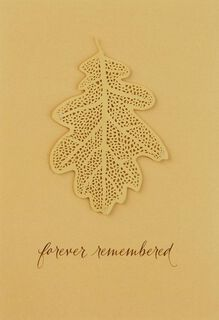 Forever Remembered Gold Leaf Sympathy Card,