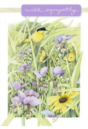 Marjolein Bastin Birds in Nature Sympathy Card