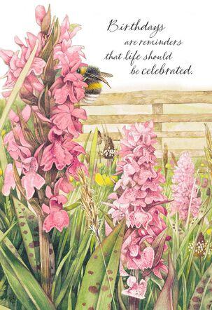 Marjolein Bastin Snapdragon Flowers Birthday Card