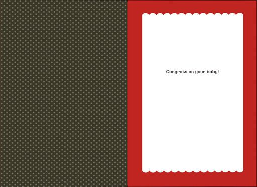 All Rolled Up New Baby Card,