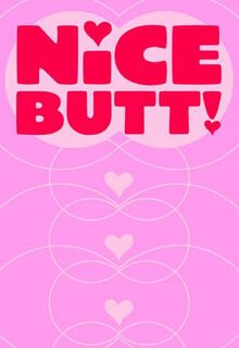 nice butt valentines day card