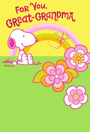 Peanuts® Rainbow Mother's Day Card for Great-Grandma