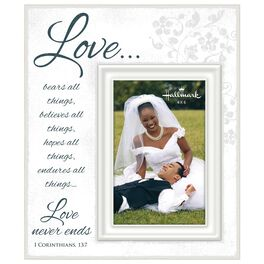 Love Never Ends Script Picture Frame, 4x6, , large