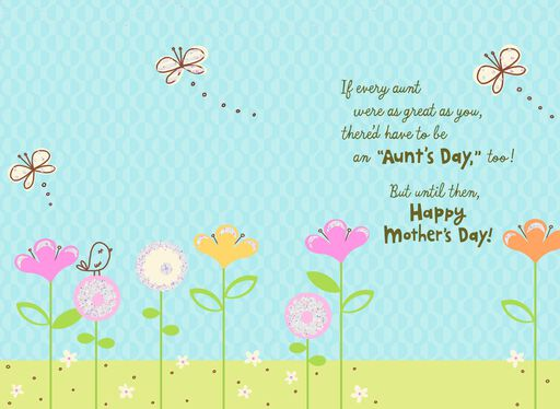 Aunt's Day Mother's Day Card,