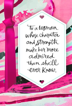 Character and Strength Birthday Card Supporting Susan G. Komen®