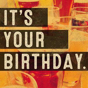 Beer Blast Musical Birthday Card