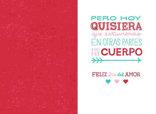 You're on My Mind Romantic Spanish-Language Valentine's Day Card,