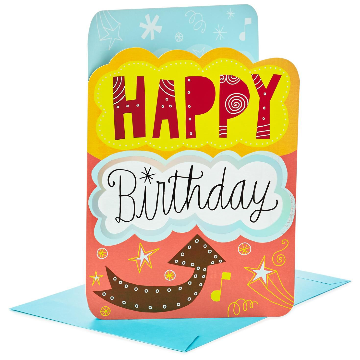 "From All of Us Jumbo Birthday Card 16"" Greeting Cards Hallmark"
