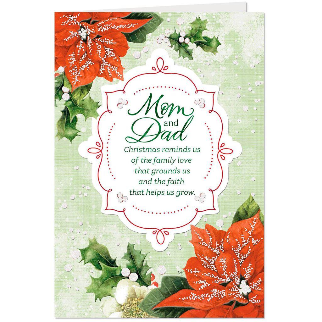 Marjolein Bastin Poinsettias Christmas Card for Mom and Dad ...