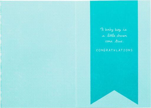 Embossed Blue Rattle Baby Boy Card,