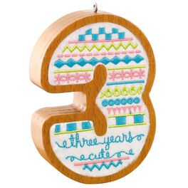 3 Years Old Ornament, , large