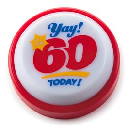 60th Birthday Wearable Sound Button, , large