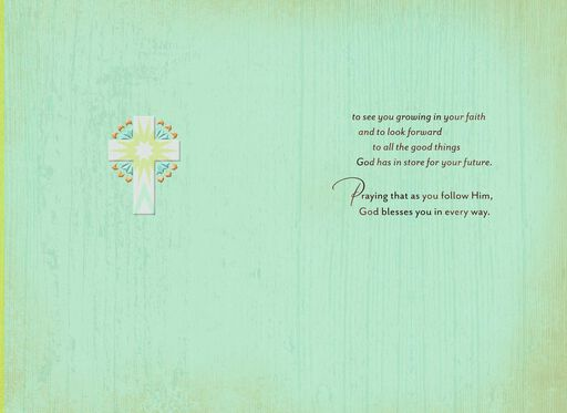 Three Crosses Confirmation Card for Nephew,