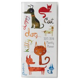 Dogs and Cats 2017-2018 Monthly Pocket Calendar, , large