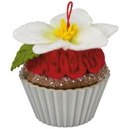 Candied Christmas Rose Christmas Cupcakes Ornament, , large