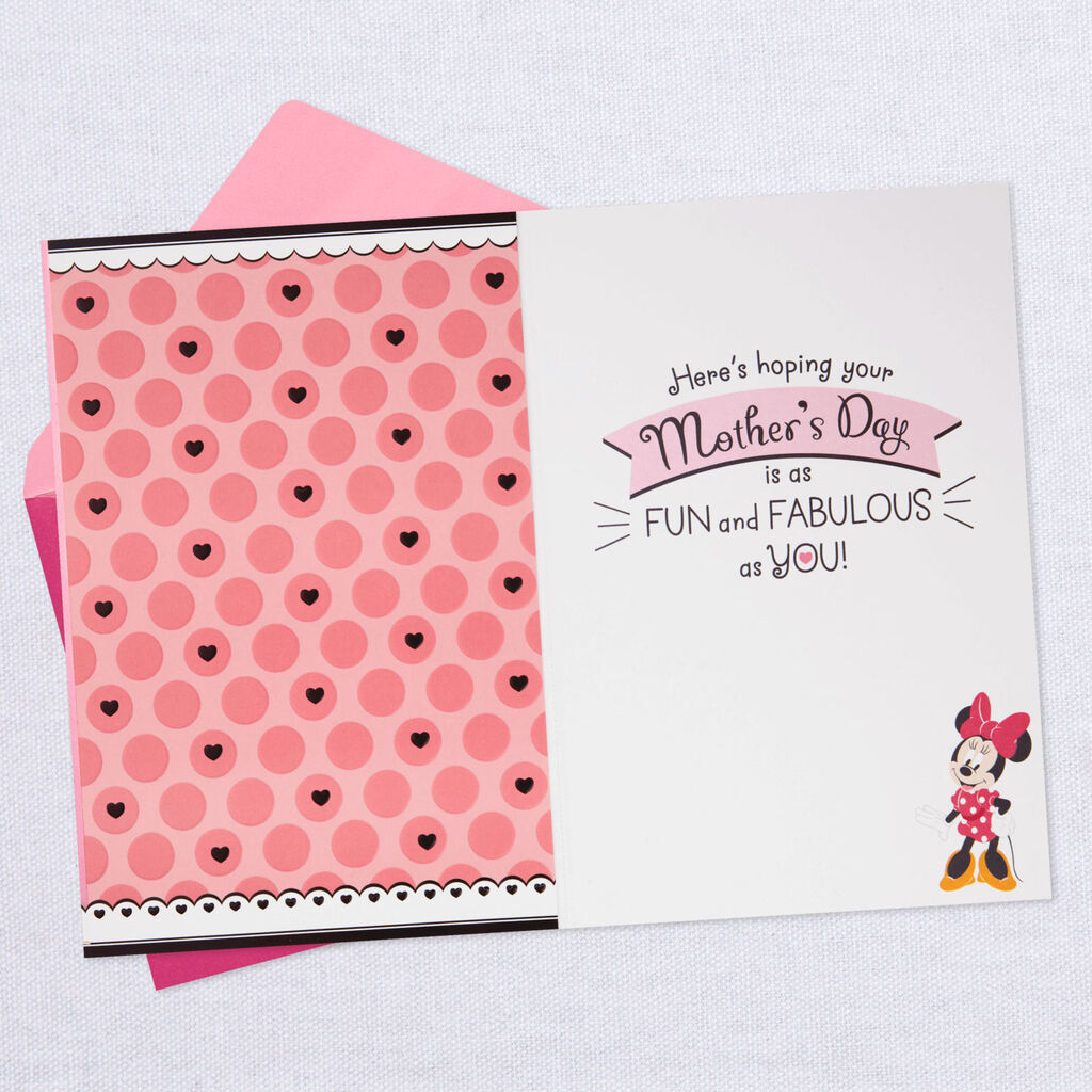 db18c3a30a9 Disney Minnie Mouse Oh-So-Fabulous Mother s Day Card - Greeting ...