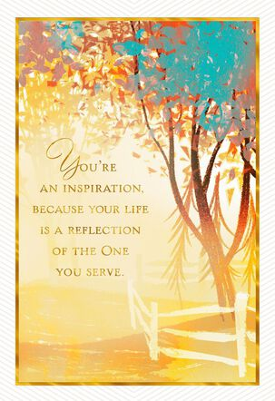 You're An Inspiration Clergy Appreciation Card