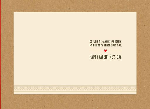 Life With You Valentine's Day Card for Husband,