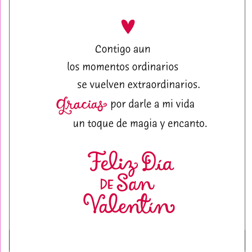 Mickey Minnie Spanish Language Jumbo Valentines Day Card