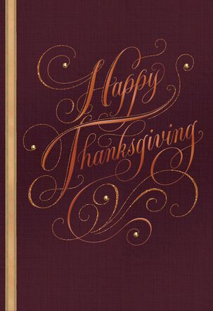 Wishes for a Holiday Full of Joy Thanksgiving Card