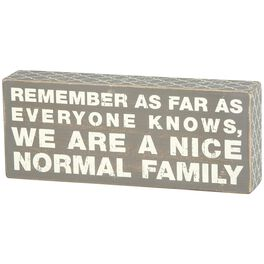 "Primitives by Kathy ""Normal Family"" Wood Box Sign, , large"